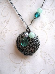 Secret Garden Scent Locket by botanicalbird on Etsy