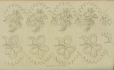EKDuncan - My Fanciful Muse: Regency Era Needlework Patterns from Ackermann's Repository 1826 - 1828 Mexican Embroidery, Embroidery Works, Types Of Embroidery, Hand Embroidery Stitches, Ribbon Embroidery, Cross Stitch Embroidery, Embroidery Patterns, Cross Stitch Patterns, White Embroidery