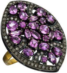 Divya Diamond Pink Tourmaline And Diamond Ring on shopstyle.com