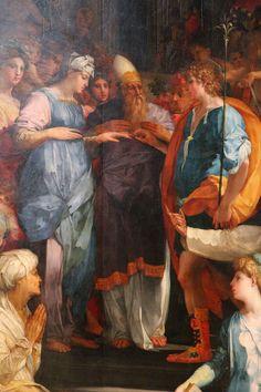 Rosso Fiorentino - Sposalizio della Vergine o Pala Ginori, dettaglio - 1523 - Basilica di San Lorenzo, Firenze