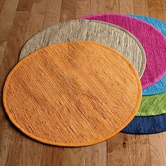 Solid Mirage Round Rug | The Company Store