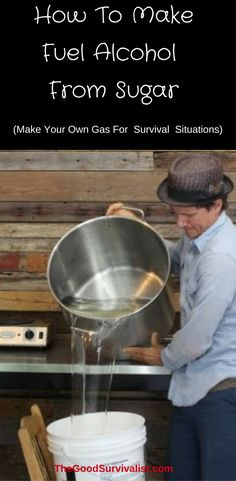 The process to make fuel alcohol is exactly the same process as making booze for consumption. The only difference is that fuel alcohol must be as close to 100% pure ethanol (200 proof) as possible. To make fuel from sugar is a four-step process. Click now and learn how to make your own fuel alcohol. This is a nice #survivalskill to know.