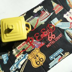 Route 66 Dish Drying Mat Road Travel Theme by MakingSomethingHappy