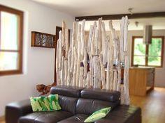 paravent en bois flott 150cm de large sur 180cm de hauteurpour une dcoration intrieure - Separation En Bois Deco Interieure