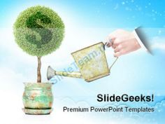 Dollar Plant Business PowerPoint Background And Template 1210 #PowerPoint #Templates #Themes #Background