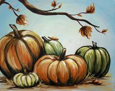 Pumpkins and Trees On Canvas Three Hour Paintings Fall Canvas Painting, Autumn Painting, Autumn Art, Pumpkin Painting, Fall Paintings, Byob Painting, Acrylic Paintings, Pumpkin Drawing, Painting Classes
