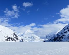 Portage Glacier, Alaska - I've been here but I couldn't see it. Completely socked in with fog and mist.  FREEZING COLD!!