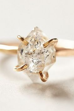 raw diamond ring #anthropologie