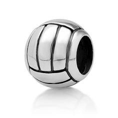 TOPSELLER! Chuvora Sterling Silver Volleyball Bead Charm Fits Pandora Bracelet $20.99