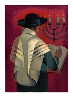 "TOFFOLI Louis - Lithographie Originale ""Le Rabin"" 76x56cm - 1996"