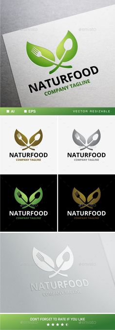 Naturfood - Logo Design Template Vector #logotype Download it here: http://graphicriver.net/item/naturfood-logo/10966223?s_rank=1060?ref=nexion
