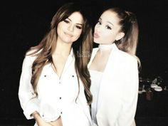Girl Celebrities, Celebs, Ariana Grande Selena Gomez, Nick Jonas Smile, Hollywood Girls, Ariana Grande Wallpaper, Im Jealous, Bff Pictures, Friend Goals