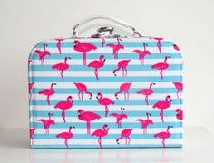 Cute flamingo storage case