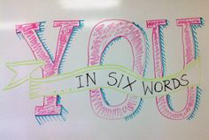 The Middle School Counselor: What's Your 6 Word Memoir?