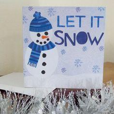 Snowman Illustrated Christmas Card £3.00 https://www.etsy.com/listing/87668987/snowman-illustrated-christmas-card #snowman #christmas #snow