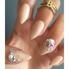 Classy Claws Nail Studio - Vancouver, BC, Canada. Natural Nail Gel Polish Manicure With Swarovski Pearls and Crystals