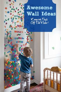 Creative Wall Design For Baby Room. Paint wall with magnetic paint! #babyroom #creative #wallart #magnets