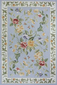 Gorgeous floral rug..perfect for a guest bedroom in the cottage