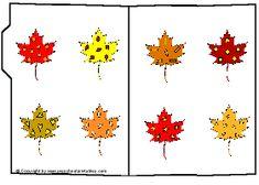 Preschool Printables : File Folder: Fall Leaves