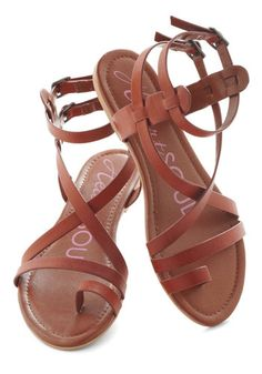 Fashionable Forum Sandal in Earth, #ModCloth maids shoes $35