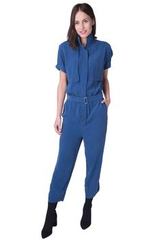 9d935b41c7 BY MALENE BIRGER Jumpsuit Size 34 XS Trimming Silk Belted Short Sleeve RRP  199  fashion  clothing  shoes  accessories  womensclothing   jumpsuitsrompers ...