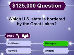 """Create """"Who Wants to Be a Millionaire?"""" style review games with this PowerPoint template!"""