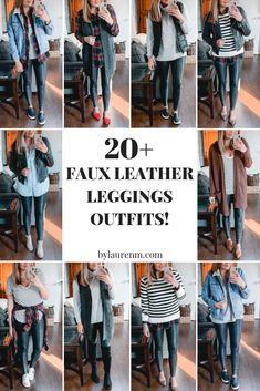 0ff2363a71e321 38 Amazing Faux leather leggings images