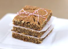 chockohlawtay: Buttery Chickpea Flax Blondies