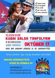 Kezdő Salsa tanfolyam a belvárosban, kubai tanárral! Budapest, Salsa, Tropical, Dance, October, Dancing, Salsa Music