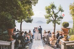 Varenna lakeside ceremony area. Design by The Lake Como Wedding Planner #lakecomo #wedding #weddingplanner