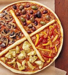 This pizza looks like a healthy combo that are my favorites on a pizza, and skip the cheese makes it super pizza!  274 pizza recipes
