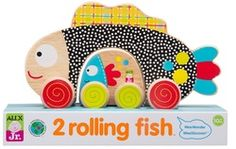 2 Rolling Fish - Your youngster will love this great Alex Rolling Fish! Hours of fun! Includes 2 solid wooden push ca Holiday Gift Guide, Holiday Gifts, Alex Toys, Little Fish, Pull Toy, Cool Patterns, Early Childhood, Custom Framing, Kids Toys