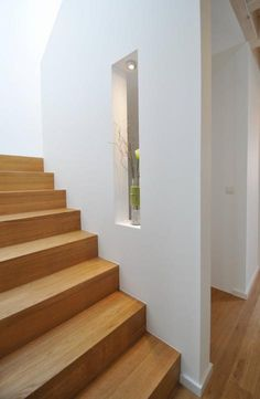 All Details You Need to Know About Home Decoration - Modern Basement House, House Stairs, Home Room Design, House Design, Escalier Design, Hallway Ideas Entrance Narrow, Small Hallways, Interior Stairs, Stair Storage