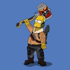 Homer Simpson as the Fortnite Raptor skin.