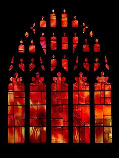 The Fire Window, Manchester Cathedral, England