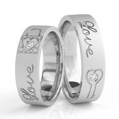10k White Gold Satin Flat His And Hers Matching Wedding Bands 0.12 Carat Round Diamond 4mm, 6mm 02101
