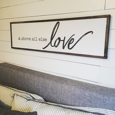 44 Master Bedroom Wall Decor Above Bed Rustic Ideas 39 Murphy Bed Ikea, Murphy Bed Plans, Diy Home Decor Bedroom For Teens, Bedroom Decor, Bedroom Ideas, Gray Bedroom, Rustic Signs, Wooden Signs, Bedroom Signs