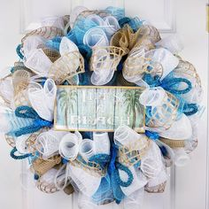 Check out this item in my Etsy shop https://www.etsy.com/listing/597965273/realtor-client-gifts-beach-house-wreath