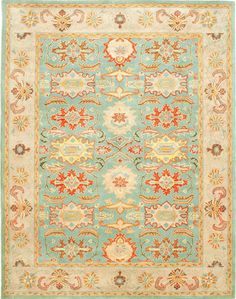 Mayfair Area Rug II - saw this in Matchbook and I am so happy I did!  Robin Eggs Blue, yellow and red.  Yes, please!!!!