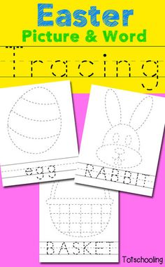 Free Easter Picture & Word Tracing