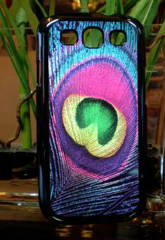 Samsung Galaxy S3 SIII Neon Colorful Peacock Feather  Case Samsung Galaxy S3. $9.99, via Etsy.