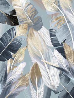 3.18€ 40% de DESCUENTO Pinturas en lienzo de hojas de palma de árbol Tropical dorado para decoración del hogar, impresiones en lienzo, imagen, carteles para fiesta hawaiana Luau Pintura y caligrafía    - AliExpress