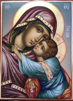 Religious Images, Religious Icons, Religious Art, Blessed Mother Mary, Blessed Virgin Mary, Pictures Of Christ, Jesus Painting, Mama Mary, Russian Icons