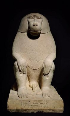 Statuette of Baboon from the 7th Dynasty.First Intermediate Period c.a. 2181-2055 B.C.