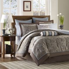 Bedding, Best Bed Sets Sale Online, View Bedding Sets Now: The Home Decorating Company Blue Comforter Sets, King Comforter, Duvet Sets, Duvet Cover Sets, Blue Duvet, Brown Bedding, Blue Bedding, Queen Bedding, Fluffy Comforter