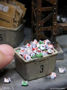 Miniature Dioramas of Bombed Out and Littered Cites by Satoshi Araki