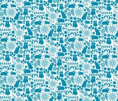 I love blue guinea pigs fabric by ebygomm on Spoonflower - custom fabric