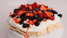 Homemade Pavlova Recipe - Laura Vitale - Laura in the Kitchen ...