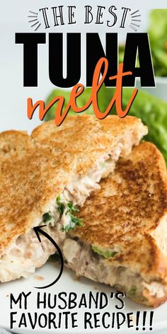 I love this traditional, homemade classic hot tuna melt. It's filled with cheese and served hot. So yummy!I think this recipe is best because it comes from my Nan. It's amazing ho Tuna Sandwich Recipes, Tuna Melt Sandwich, Canned Tuna Recipes, Tuna Melts, Lunch Recipes, Seafood Recipes, Dinner Recipes, Tuna Salad Sandwiches, Tuna Salad Recipes