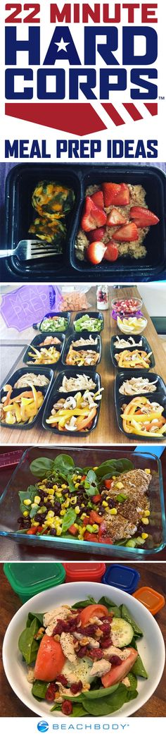 #GetSome meal prep inspiration from fellow 22 Minute Hard Corps participants.